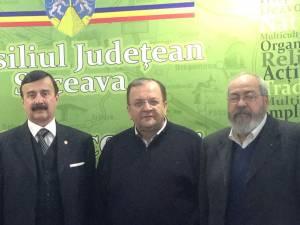 Gheorghe Flutur împreună cu reprezentanţii delegaţiei antreprenorilor din Italia