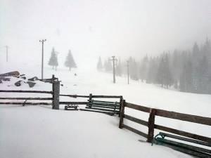 În Rarău a nins abundent în ultimele ore