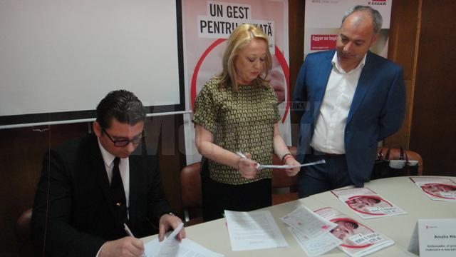 Semnarea contractului de sponsorizare