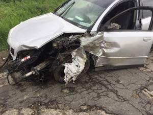 Trei autoturisme au fost implicate ieri într-un accident pe DN 29A
