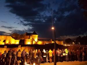 Cetatea de Scaun a Sucevei a avut aproape 4.300 de vizitatori nocturni