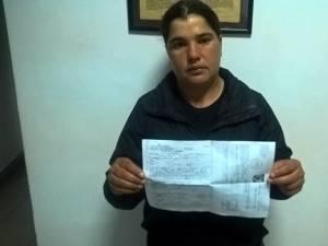 Vasilica Mirela Andrieș, cu procesul verbal și dovada de achitare a amenzii