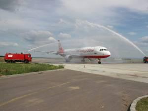 """Aeronavă Airbus A321 pe Aeroportul """"Ștefan cel Mare"""""""