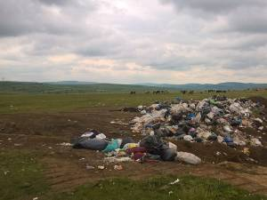Tone de gunoi au ajuns în groapa ilegală