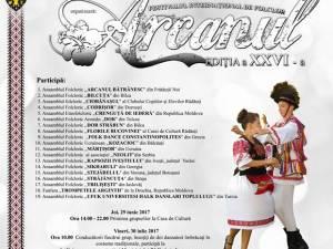 """Festivalul """"Arcanul"""", la Rădăuți"""