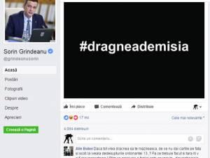 Sorin Grindeanu cere pe pagina lui de Facebook demisia lui Liviu Dragnea