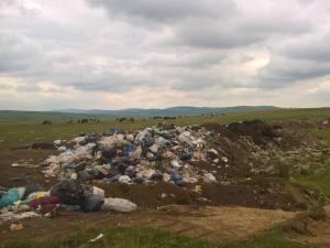 Așa arăta sâmbătă terenul unde erau aruncate gunoaiele