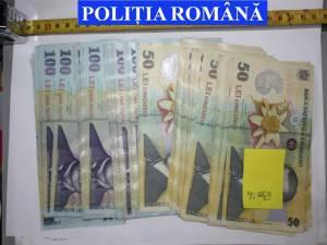 Banii ridicaţi de la tânărul din Zvoriștea