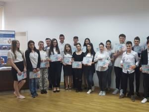 Au fost premiați un număr de 108 elevi din clasele IX-XII și învățământ profesional