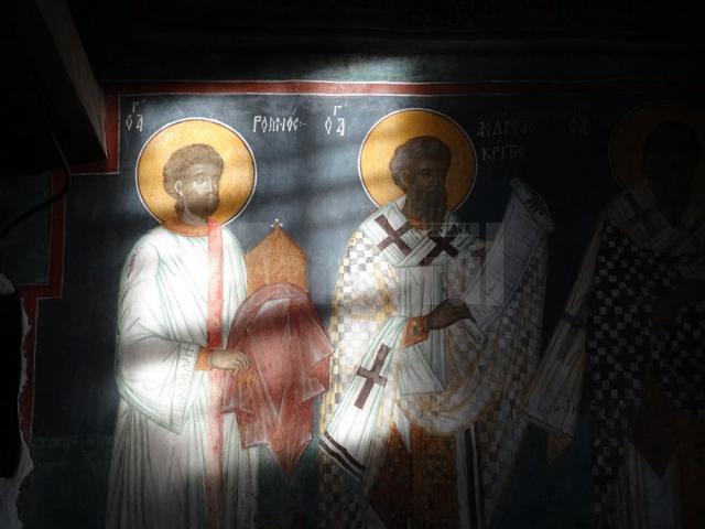 26 februarie 2017: La ora  8. 11 proiecția solară se îndreaptă spre icoana Sfântului Andrei Criteanul. Canonul care îi poartă numele se cântă de a doua zi