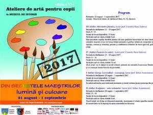 """Copiii se pot înscrie până pe 15 iulie la Atelierele de artă """"Din secretele maeştrilor"""", ediția a VI-a"""