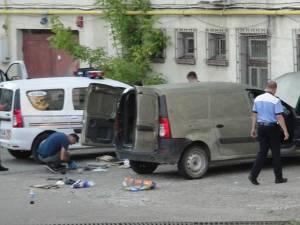Autoturismul Dacia Logan care cel mai probabil a fost folosit în acţiuni ilegale