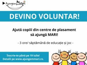 Se caută voluntari care să lucreze cu copiii din centre de plasament