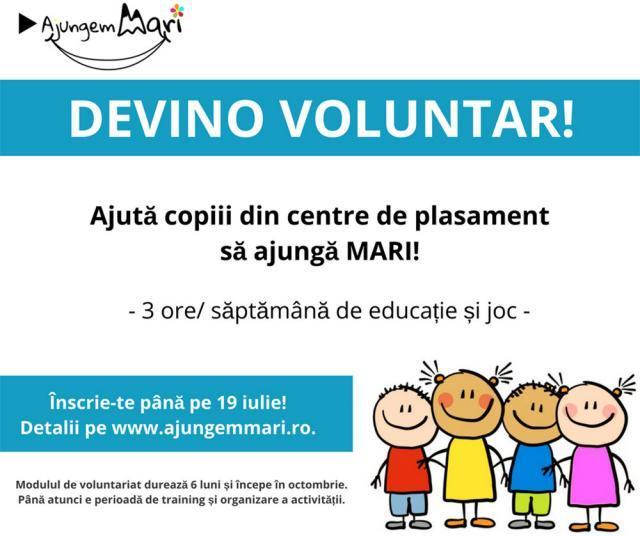 Se caută voluntari care să lucreze câte trei ore pe săptămână cu copiii din centre de plasament