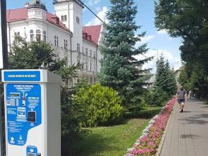 Parcometrele eliberează tichetul de parcare în baza opţiunilor de plată şi timp selectate