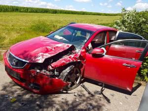 Cele doua persoane ranite se aflau in autoturismul Honda