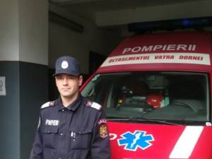 Pompierul militar care a intervenit