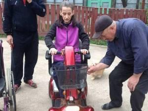 Liliana Cercel este imobilizată într-un scaun cu rotile de peste 20 de ani