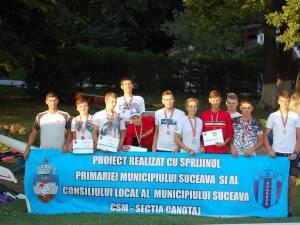 Canotorii de la CSM Suceava au excelat la naţionalele de tineret şi seniori