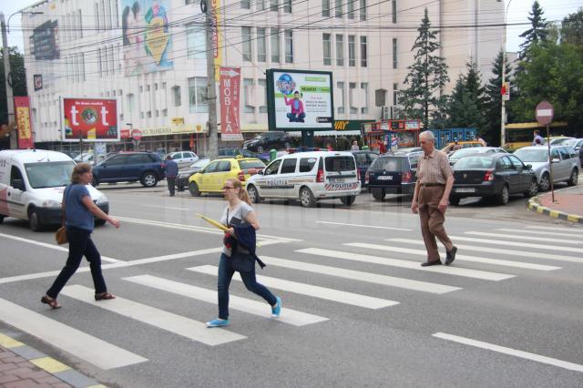 Control politie la trecerile de pietoni