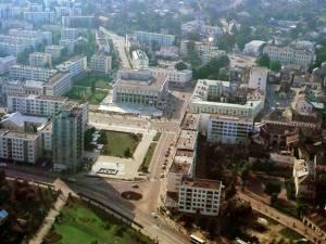 Noul centru al oraşului Suceava, la începutul anilor 70