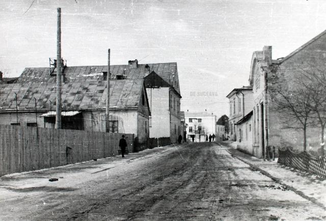 Strada Nicolae Bălcescu la sfârşitul anilor 50 și începutul anilor 60