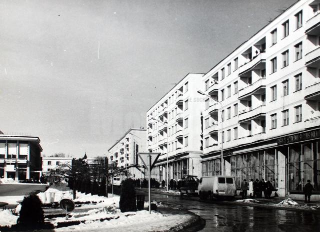 Strada Nicolae Bălcescu făcând parte din noul centru al oraşului