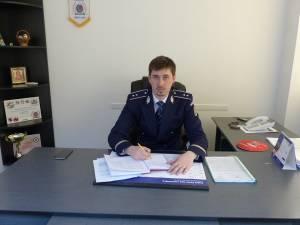 Inspectorul principal Gabriel Apopei, şeful Serviciului Poliţiei Rutiere Suceava