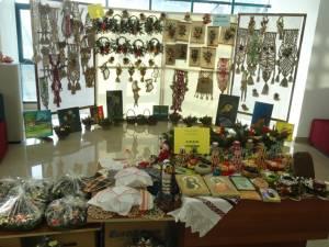 Standul realizat de Centrul Costâna în cadrul unei expoziţii organizate de DGASPC Suceava