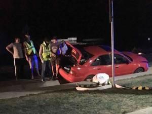 Bărbatul a fost izbit în plin de un autoturism, în timp ce încerca să traverseze drumul