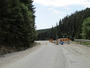 Drumul se află în plin şantier