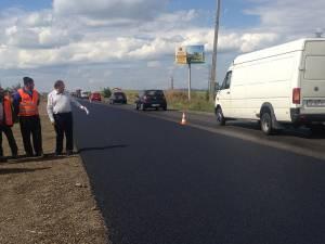 Gheorghe Flutur a inspectat miercuri șantierul de pe E85