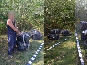 Contrabandistul ucrainean a fost reținut, iar țigările au fost confiscate