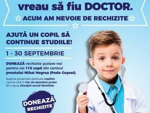 Când voi fi mare vreau să fiu DOCTOR, acum am nevoie de RECHIZITE!