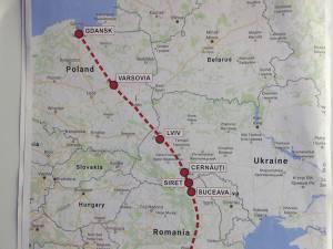 Harta Coridorului Est-Carpatic
