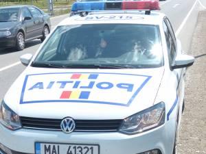 Un echipaj al Poliției s-a deplasat la fața locului, în urma sesizării pietonului