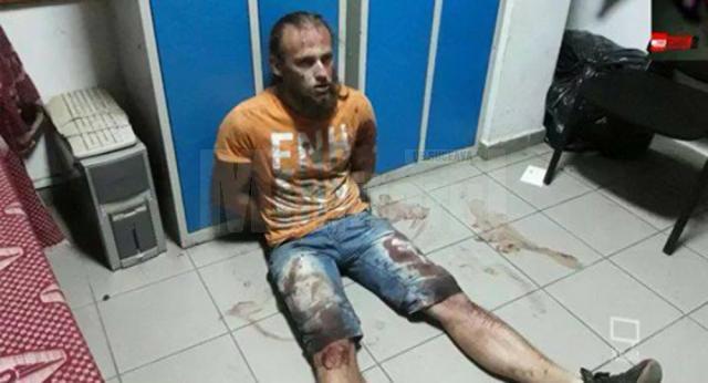 Ioan Beșa după lupta inegală cu poliţistul pe care l-a atacat mişeleşte și l-a ucis
