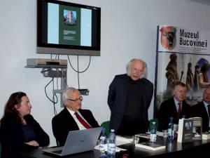Dr. Ioana Scridon, dr. Ortfried Kotzian, Luzian Geier, viceconsulul Sergij Osatschuk și prof. Ştefan Purici