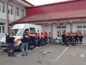 Protestul sindicaliştilor de la Ambulanță
