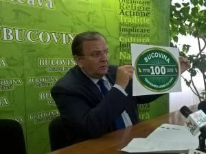 """Plăcuțe cu """"Bucovina-Centenarul unirii cu țara"""" vor fi amplasate la intrările în județ și pe clădirile publice"""