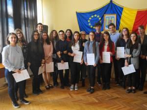 """70 de elevi de la Colegiul """"Petru Rareș"""" au obținut certificate Deutsche Sprachdiplom (DSD 1)"""