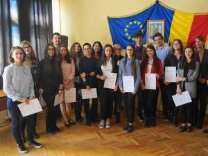 Festivitatea de acordare a certificatelor de atestare a cunoştinţelor de limba germană Deutsche Sprachdiplom (DSD 1)