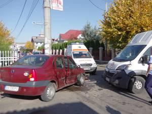 Accidentul de ieri după-amiază pe strada 1 Mai din Fălticeni