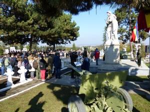 Ziua Armatei Române a fost sărbătorită la Monumentul Ostaşului Român din Cimitirul Pacea