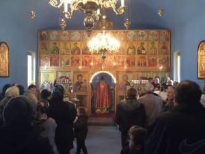 """Hramul bisericii din curtea Spitalului Municipal """"Sf. Doctori Cosma şi Damian"""" din Rădăuţi"""