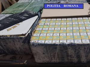 Peste 13.000 de pachete cu ţigări de contrabandă au fost capturate de poliţişti în câteva ore