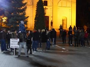 Sucevenii au protestat împotriva modificării legilor justiţiei
