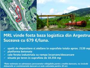 MRL vinde fosta baza logistica din Argestru, Suceava cu 679€/luna