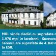 MRL vinde cladiri cu suprafata de aprox. 1970 mp si teren in suprafata de 4360 mp, in Iacobeni-Suceava, cu 884 Euro/luna.