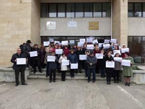 Protestul de ieri din fața APIA Suceava